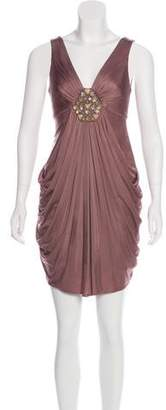 BCBGMAXAZRIA Embellished Knee-Length Dress