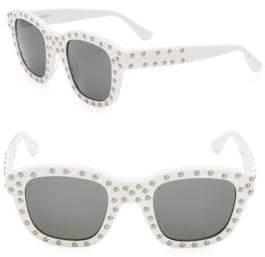 Saint Laurent 48MM Studded Square Sunglasses
