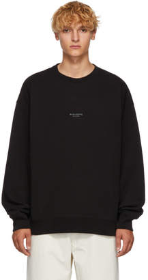 Acne Studios Black Distressed Logo Sweatshirt