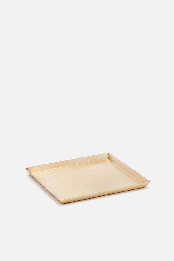 Tenfold New York Tenfold New York Brass Tray Square