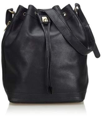 3df2d4cfbd49 Celine Vintage Leather Bucket Bag