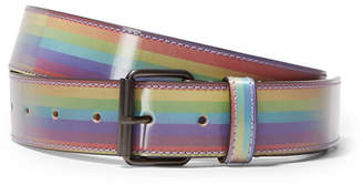 Vetements Printed Glossed-leather Belt - Purple