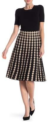 Lauren Hansen Dotted Knit Flared Skirt