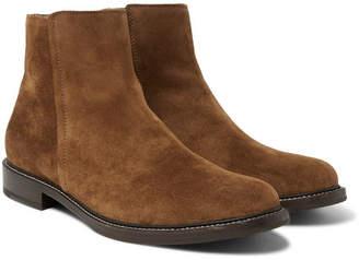 Brunello Cucinelli Suede Chelsea Boots - Men - Light brown