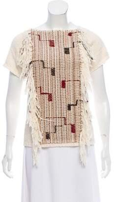 Ulla Johnson Short Sleeve Knit Top
