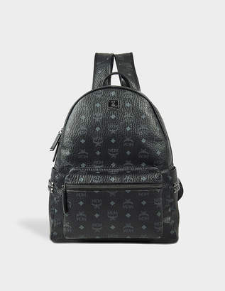 MCM Stark Side Studs Medium Backpack in Black Visetos