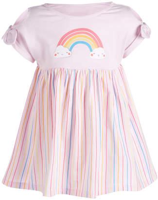 First Impressions Baby Girls Rainbow Striped Cotton Dress