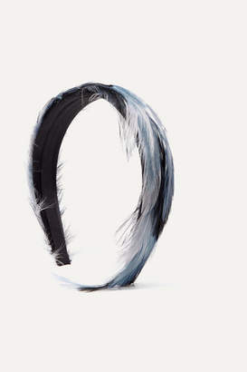 Gigi Burris Millinery Feather Headband - Blue