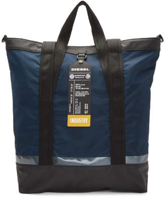 Diesel Navy and Black Valpago Tote