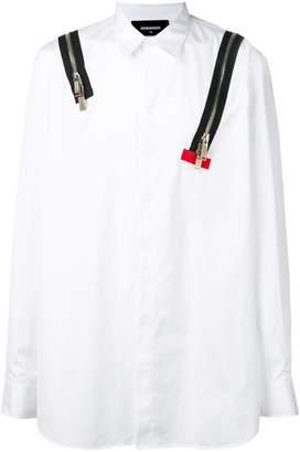 DSQUARED2 zip detail shirt