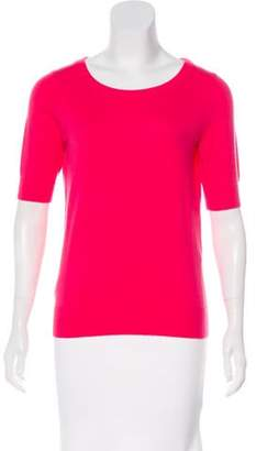 Michael Kors Short Sleeve Cashmere Top