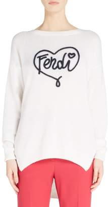 Fendi Heart Logo Cashmere Sweater