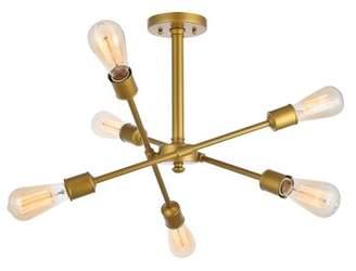 Wrought Studio Mullet 6-Light Sputnik Chandelier Fixture