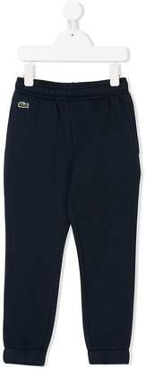 Lacoste Kids logo patch track pants