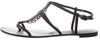Barneys New York Barney's New York Leather Embellished Sandals