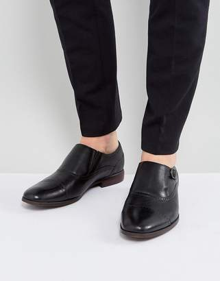 Aldo Ales Brogue Monk Shoes In Black