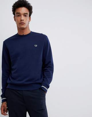 Fred Perry crew neck sweat in navy