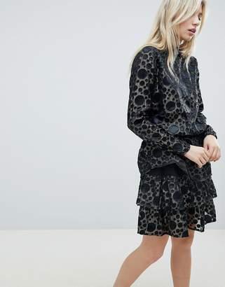 B.young Metallic Sheer Spot Dress