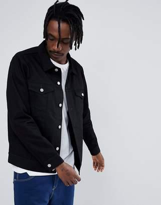 Weekday Single Jacket Rinsed Black