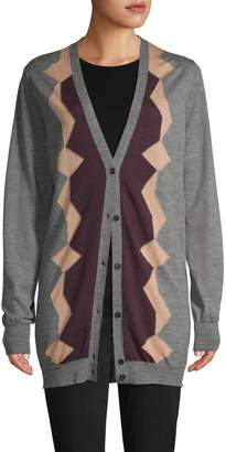 Marni Graphic Wool Cardigan
