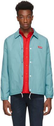 Levi's Levis Blue Thermore Coach Jacket