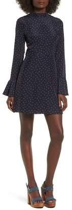 J.o.a. High Neck Fit & Flare Dress