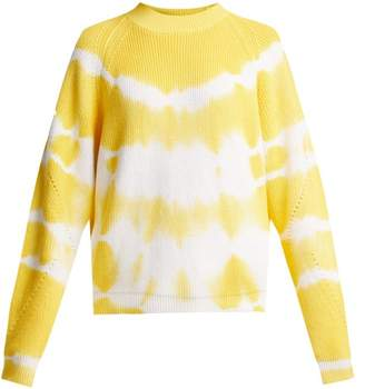 MSGM Bleached Cotton Sweater - Womens - Yellow