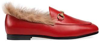 Gucci Women's Jordaan Leather Loafers - Red