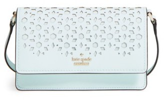 Kate Spade New York Cameron Street - Arielle Perforated Leather Crossbody Bag - Blue $168 thestylecure.com