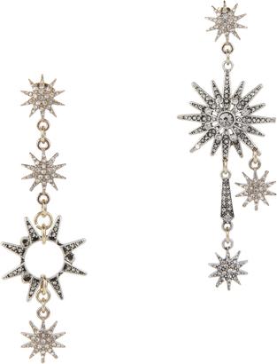Lulu Frost Asymmetrical Star Earrings $350 thestylecure.com
