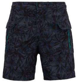 BOSS Hugo Tropical pattern quick-dry swim shorts M Open Grey