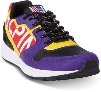 Polo Ralph Lauren Downhill Skier Men Train 100 Tech-Suede Sneakers Men Shoes
