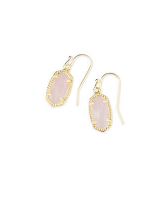 Kendra Scott Lee Gold Drop Earrings in Multicolor Drusy