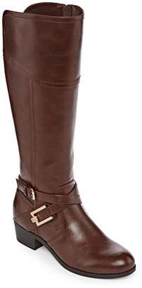 76bf5e76e46f Liz Claiborne Womens Trevi Riding Block Heel Zip Boots
