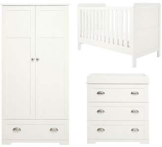 Mamas and Papas Shipley Cot Bed, Dresser & Wardrobe