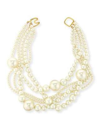Kenneth Jay Lane Multi-Strand Pearly Bead Necklace