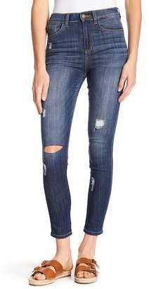 SP Black Distressed High Rise Skinny Jeans