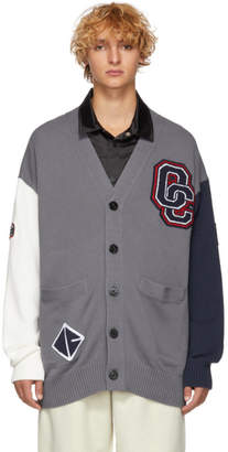 Opening Ceremony Grey and White Long Varsity Cardigan