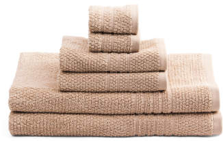 6pc Softee Quick Dry Towel Set