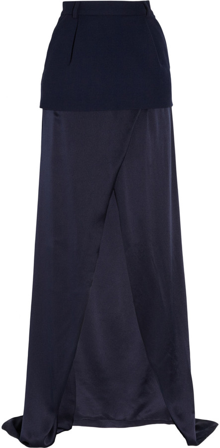 Preen Sandwashed-silk maxi skirt