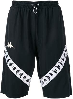 Kappa logo stripe track shorts