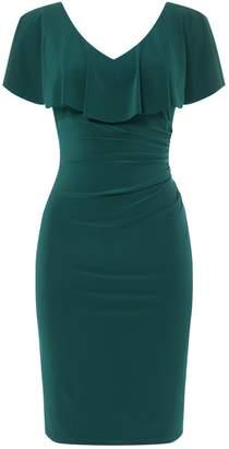 Lauren Ralph Lauren Frill neckline detail jersey dress
