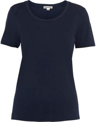 Whistles Navy Maye Seam Back T-shirt