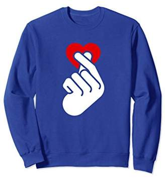 Love - Small Heart Hand Gesture Sweatshirt