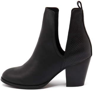 Django & Juliette Ronan Black Boots Womens Shoes Casual Ankle Boots