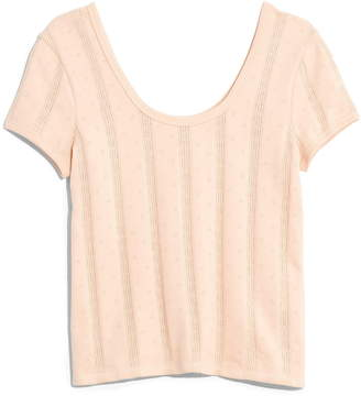 Madewell Pointelle Ribbed Tee
