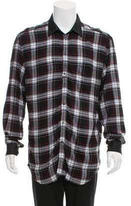 Diesel Plaid Button-Up Shirt
