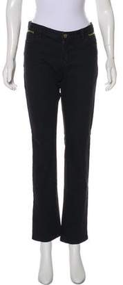 Michael Kors Mid-Rise Zip-Accented Jeans