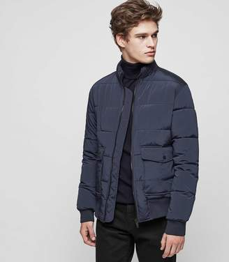 Reiss Rider Quilted Bomber Jacket