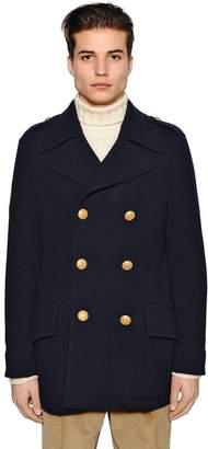 Lardini Techno Wool Knit Pea Coat
